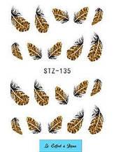 Наклейки для ногтей STZ-135