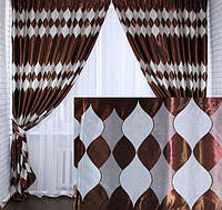 Купить плотные красивые шторы для зала в Украине