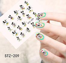 Наклейки для ногтей STZ-209