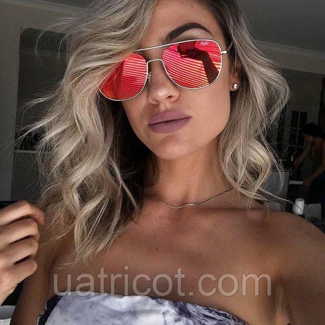 Женские солнцезащитные очки QUAY AUSTRALIA Running Riot Gold Aviator