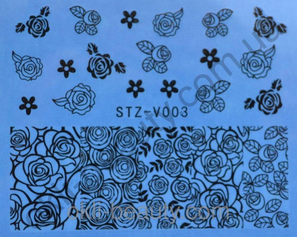 Наклейки для ногтей STZ-V003