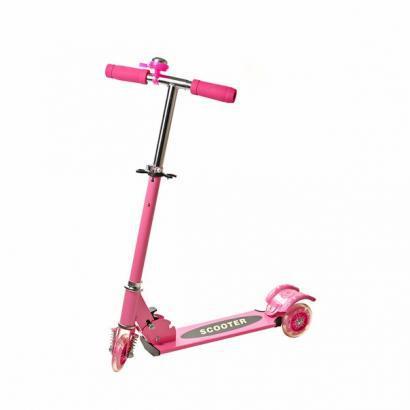 Самокат трехколесный Scooter, скутер (самокат розовый) - подарок для девочки