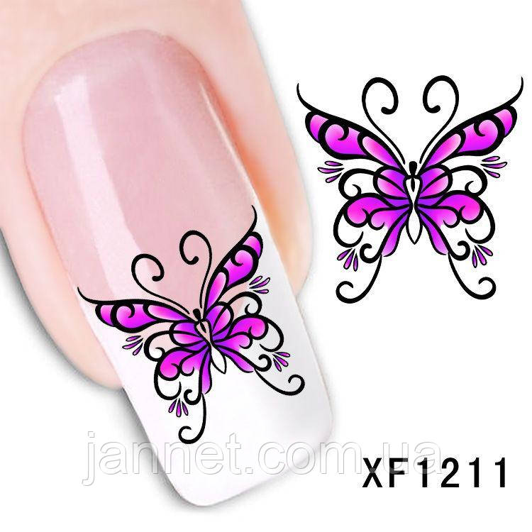 Наклейки для ногтей XF1211