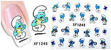 """Детские наклейки на ногти """"Гномы"""" - размер стикера 5*6см, инструкция по применению есть в описании товара"""