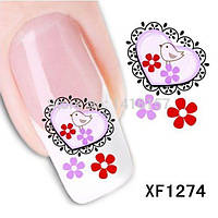 Наклейки для дизайна ногтей - размер стикера 5*6см, инструкция по применению есть в описании товара
