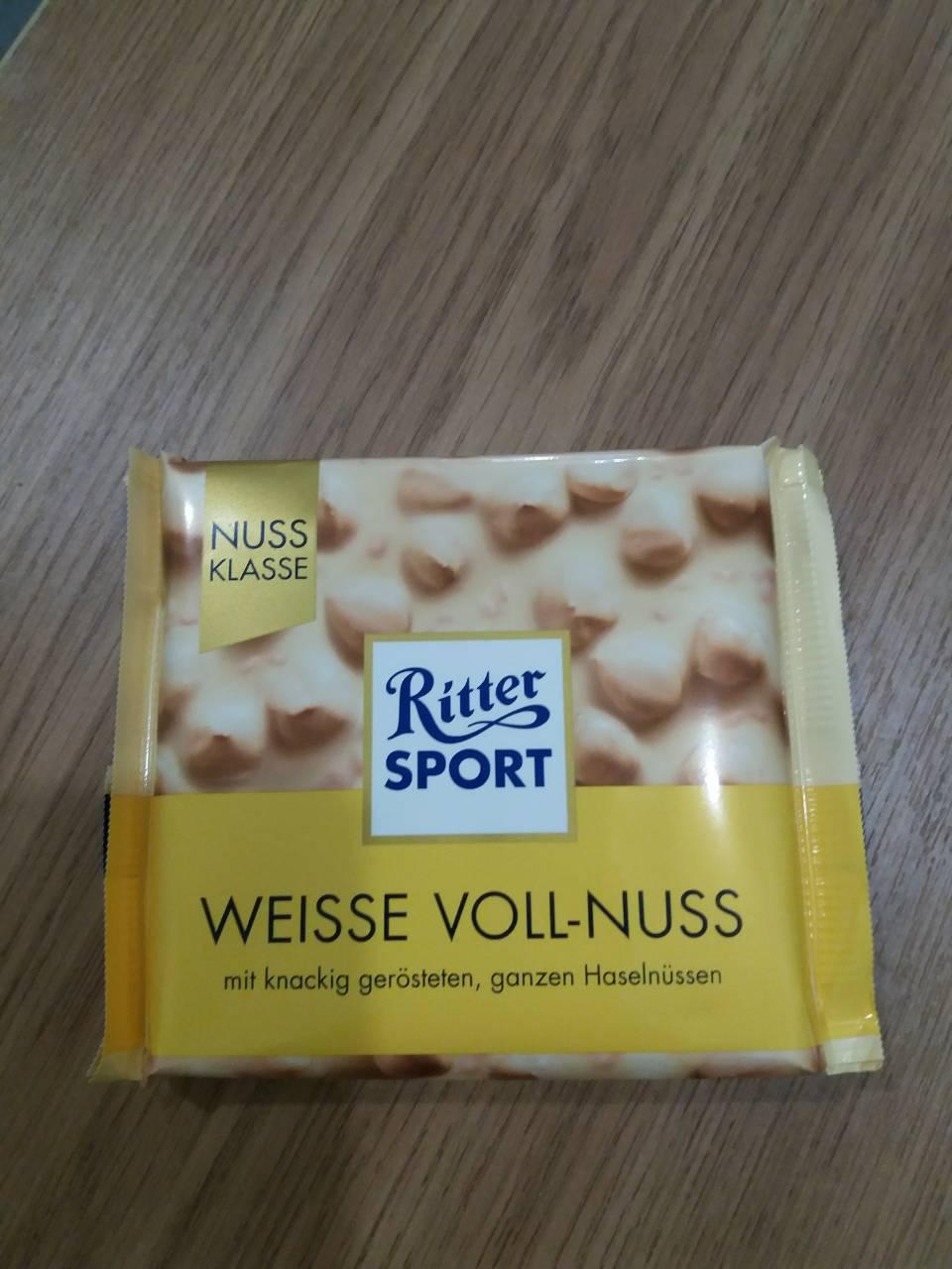 """Шоколад Ritter Sport белый """"Цельный лесной орех и хлопья"""""""