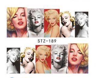 Наклейки для ногтей Мерлин Монро STZ-189