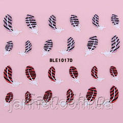 Наклейки для ногтей с блестками BLE1017D