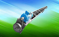Шнековый погрузчик в лотке 150 мм длина 1 м. двигатель 0.55 кВт.