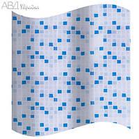 Шторка для ванны синяя мозаика AWD 2101154