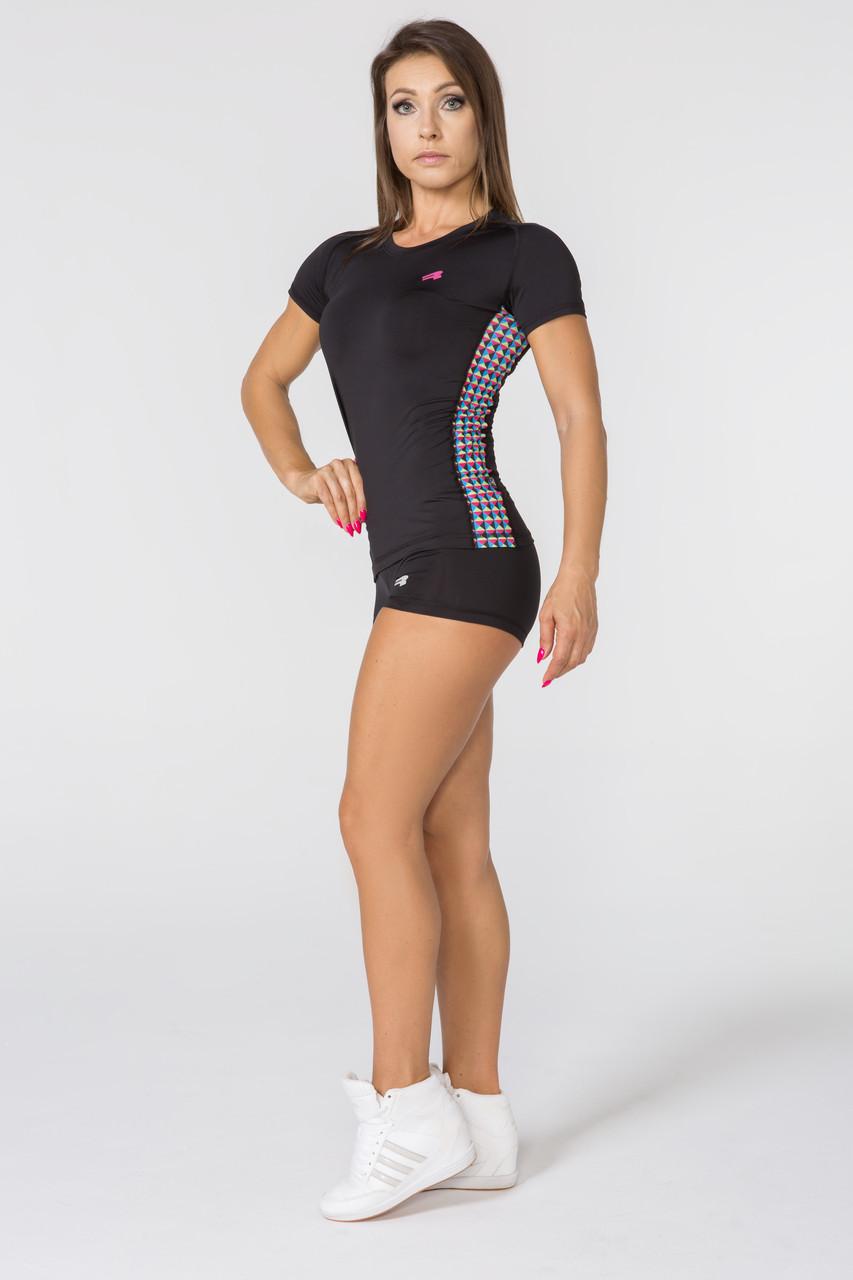 Спортивная женская футболка Rough Radical Reaction II SS,рашгард с коротким рукавом,компрессионная