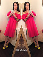 "Платье ""волан"" минт, малина, электрик,розовое , фото 1"
