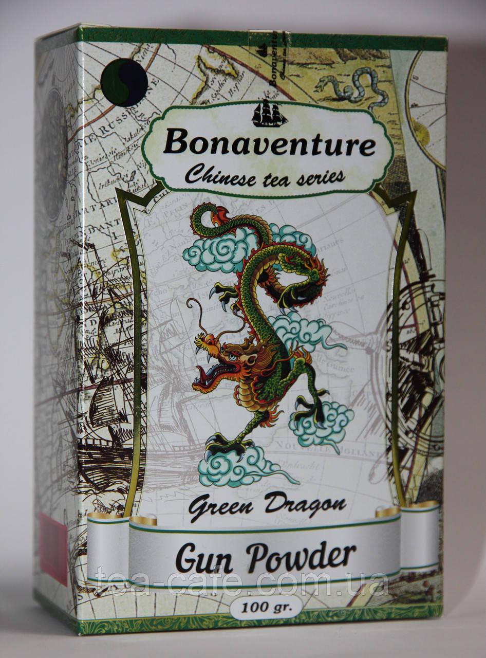 """Чай зеленый китайский Gun Powder Bonaventure """"Green Dragon"""" 100гр."""