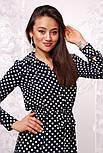 Женское стильное платье-рубашка в пол в горошек, фото 3