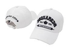 Кепка Dsquared2 White Black Бейсболка Белая