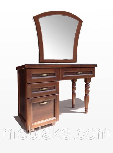 """Туалетный столик  с зеркалом из натурального дерева """"112""""  Driv Line"""