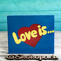 20 плиток молочного шоколада XL  «Love is» Рус