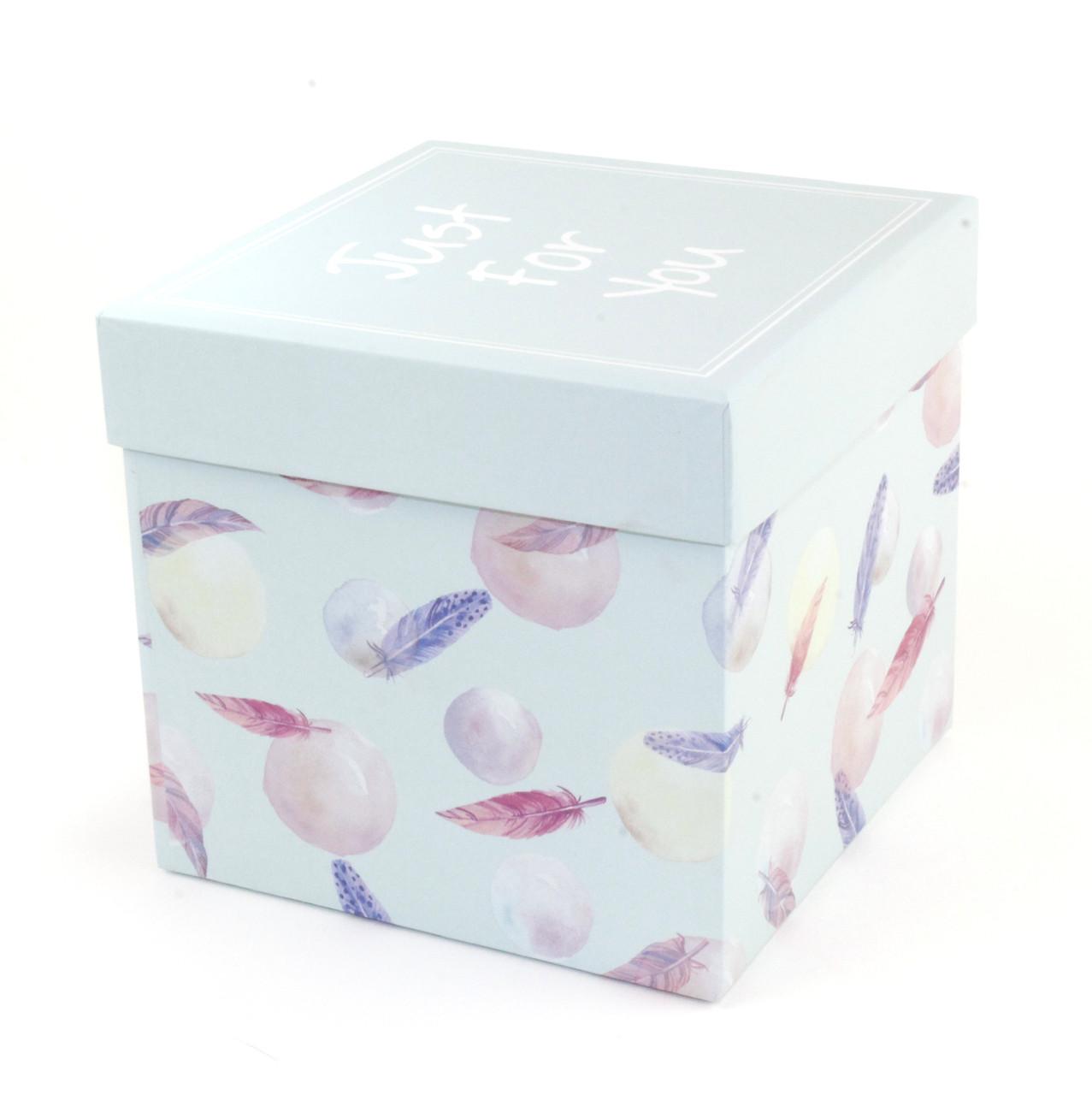Мятная подарочная коробка Just For You 20.5x20.5x16.5 см