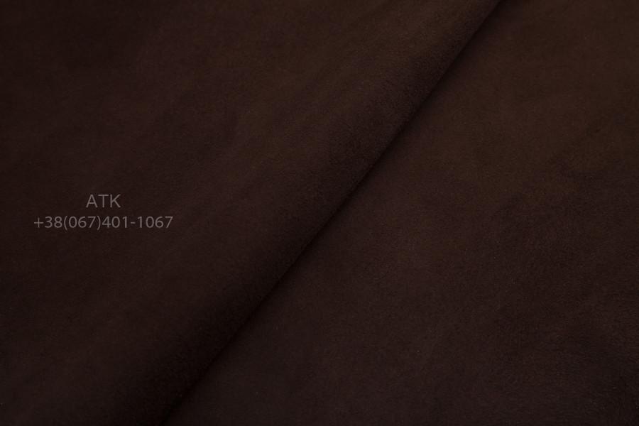 Замша обувная темно-коричневая