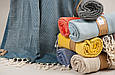 Полотенце Barine Pestemal Tan 100*175 Petrol бирюзовый, фото 2