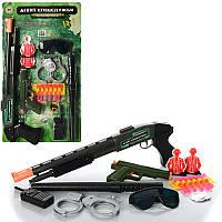 Набір поліції HU M 0259 U/R рушниця, окуляри, пістолет, наручники, лист, 54 см