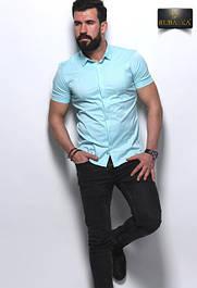 Рубашки и футболки мужские Rubaska Турция короткий рукав