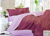 Однотонне двоспальне постільна білизна East Comfort фіолетово-бузкового кольору