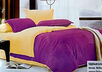 Комплект сатинового постельного белья Евро размера East Comfort фиолетовое