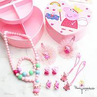Детская шкатулка с украшениями Свинка Пеппа