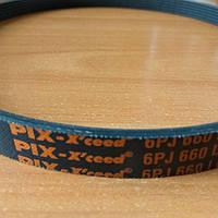 Ремень ручейковый 6PJ 660 Pix для бетономешалки, газонокосилки, мотоблока т. д