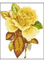 Чайная роза (счетный крест, бисер)