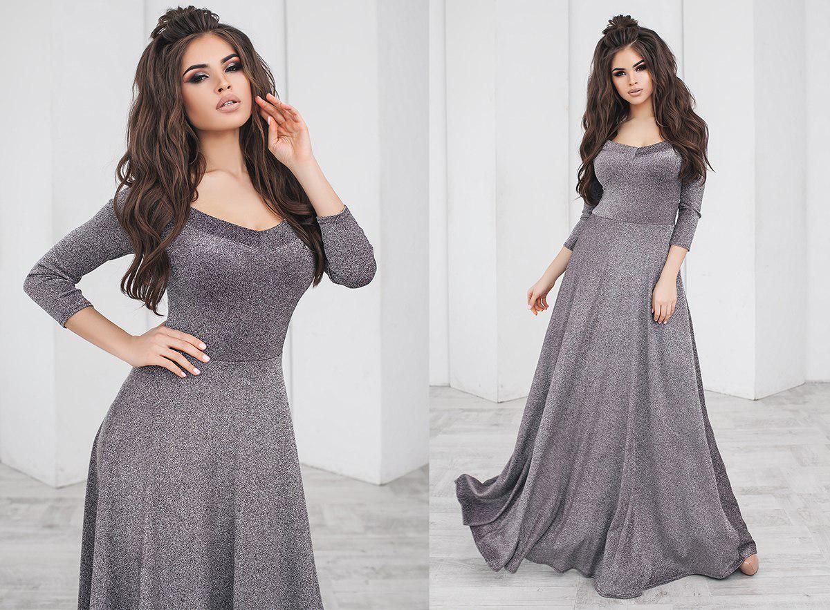 """Длинное нарядное платье в пол """"SHIRA"""" с расклешенной юбкой (4 цвета)"""