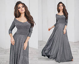 """Длинное нарядное платье в пол """"SHIRA"""" с расклешенной юбкой (4 цвета), фото 3"""