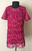 Нарядное детское платье для девочек малинового цвета, фото 1