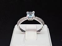 Серебряное кольцо Анни с топазом и фианитами. Артикул 1685/9р-TSKB, фото 1