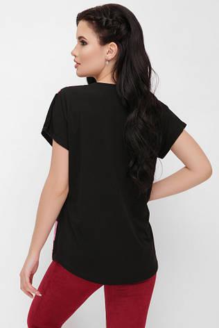 1f4fe51330b79 Асимметричная свободная женская черная футболка с цветочным принтом, букет  роз