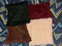 Наволочка хутряна 50х50 см різні кольори