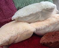 Декоративная меховая наволочка 50х70 см разные окрасы