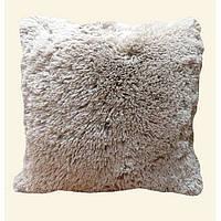 Хутряна подушка 50х50 см. (сіра)