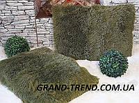 Хутряна подушка 50х50 см. зелена