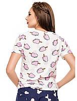 Женская футболка белого цвета Отличное качество