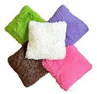 Ворсистая подушка 50х50 см. разные цвета