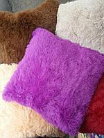 Подушка хутряна 50х50 см різні окраси