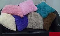 Подушка хутряна 50х50 см різні кольори