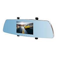 """Зеркало - видеорегистратор 5"""" дюймов с видеопарковкой и камерой заднего вида. Модель ЕА666"""