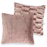 """Хутряна декоративна подушка """"норка"""" 50х50 см різні кольори забарвлення"""