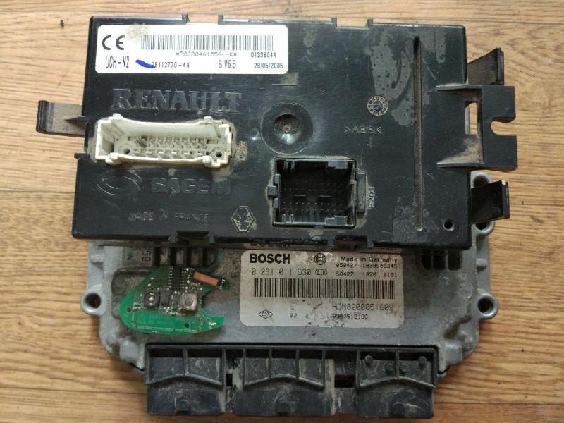 Блок управління двигуном (комплект) Renault Trafic, Opel Vivaro 1.9, 2001-2006, 0281011530 (Б/У)
