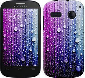 """Чехол на Alcatel One Touch Pop C3 4033D Капли воды """"3351c-323-328"""""""