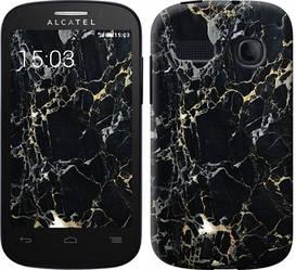 """Чехол на Alcatel One Touch Pop C3 4033D Черный мрамор """"3846c-323-328"""""""