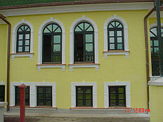 Частный желто-зеленый дом -1